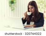 asia young business woman... | Shutterstock . vector #320764322