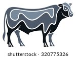 Stylized Bull   Angus Cattle