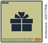vector illustration of gift box    Shutterstock .eps vector #320777948
