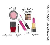 illustration of make up and... | Shutterstock . vector #320783702