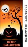 happy halloween   ornge color... | Shutterstock .eps vector #320789798
