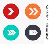 vector modern arrow colorful... | Shutterstock .eps vector #320792492