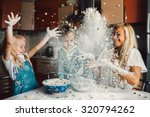mather have fun with kids on... | Shutterstock . vector #320794262