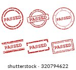 passed stamps | Shutterstock .eps vector #320794622