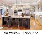 kitchen interior with island ... | Shutterstock . vector #320797472