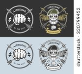 airborne emblems with skull ... | Shutterstock . vector #320799452