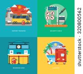 set of flat design illustration ... | Shutterstock .eps vector #320800562