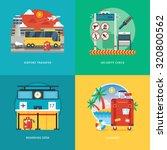 set of flat design illustration ... | Shutterstock .eps vector #320800562