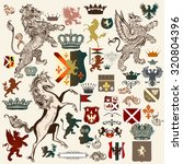 collection of high detailed... | Shutterstock .eps vector #320804396