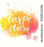 carpe diem   latin phrase means ... | Shutterstock .eps vector #320812106