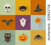 vector halloween icons set....   Shutterstock .eps vector #320812718