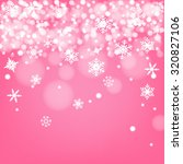 snow flake on pink background | Shutterstock .eps vector #320827106