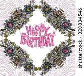 happy birthday greeting card... | Shutterstock .eps vector #320834546