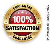 red satisfaction guarantee... | Shutterstock .eps vector #320837822