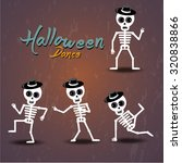 Set Of Dancing Skeleton ...