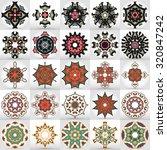 beautiful mandalas. round...   Shutterstock .eps vector #320847242