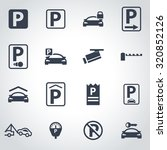 vector black parking icon set. | Shutterstock .eps vector #320852126