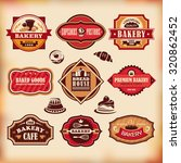 set 4 of vector vintage various ... | Shutterstock .eps vector #320862452