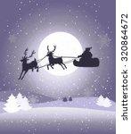 beautiful christmas card | Shutterstock . vector #320864672