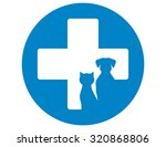 blue round veterinary icon with ...