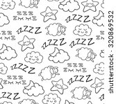 sleep time sketch icons white... | Shutterstock .eps vector #320869532
