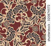 ethnic floral seamless pattern | Shutterstock .eps vector #320874572