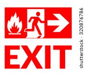 exit sign. emergency fire exit... | Shutterstock .eps vector #320876786