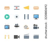 movie icons set | Shutterstock .eps vector #320880692