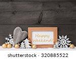 golden christmas decoration on...   Shutterstock . vector #320885522