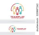 team work play logo. community... | Shutterstock .eps vector #320887262