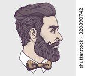 hand drawn portrait of bearded... | Shutterstock .eps vector #320890742