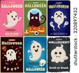 vintage halloween poster design ...   Shutterstock .eps vector #320897432