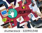 volunteer charity help sharing... | Shutterstock . vector #320901548