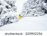 Male Snowboarder Having Fun In...