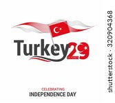 vector 29th october turkey... | Shutterstock .eps vector #320904368