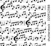 abstract black and white music... | Shutterstock .eps vector #320912588
