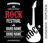 rock festival poster. rock and... | Shutterstock .eps vector #320915636