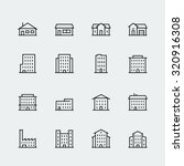 buildings vector icon set in... | Shutterstock .eps vector #320916308