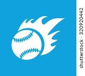 hot baseball icon  simple white ...