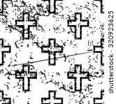 catholic cross pattern  grunge  ... | Shutterstock . vector #320923625