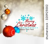 merry christmas and happy new... | Shutterstock .eps vector #320925002