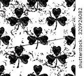 clover pattern  grunge  black...