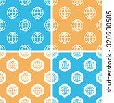 globe pattern set  simple and...