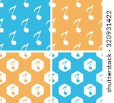 eighth note pattern set  simple ...