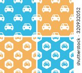 car pattern set  simple and...
