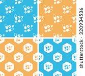 medicine pattern set  simple... | Shutterstock . vector #320934536