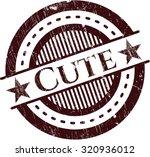cute grunge stamp