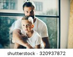 portrait of a bearded man and... | Shutterstock . vector #320937872