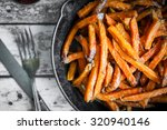 Sweet Potato Fries In Cast Iro...