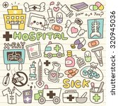 set of hospital doodle | Shutterstock .eps vector #320945036